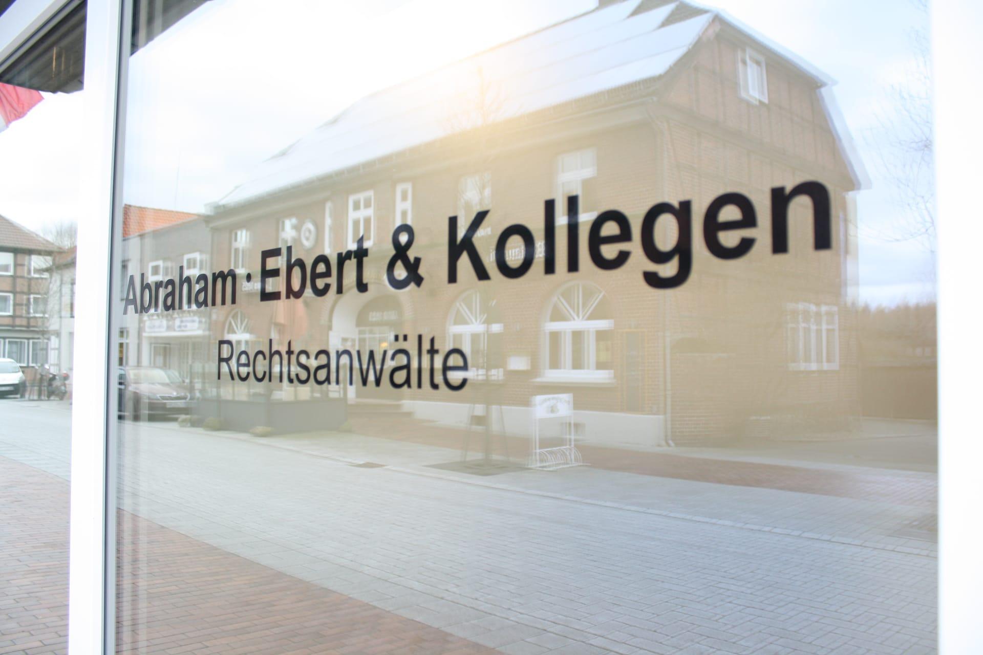 Eingansbereich der Kanzlei Abraham, Ebert und Kollegen in Bad Bevensen